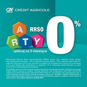 Raty z credit agricole 0%